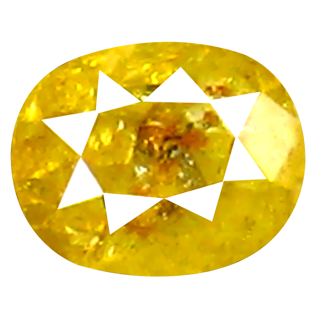 0.16 ct Very good Oval Shape (3 x 3 mm) Fancy Yellow Diamond Genuine Stone