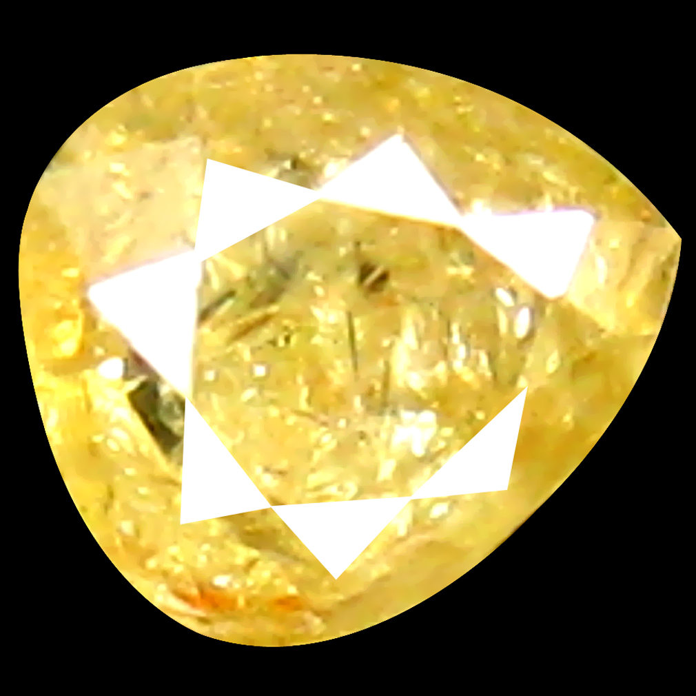 0.15 ct Supreme Pear Shape (3 x 3 mm) Fancy Yellow Diamond Genuine Stone