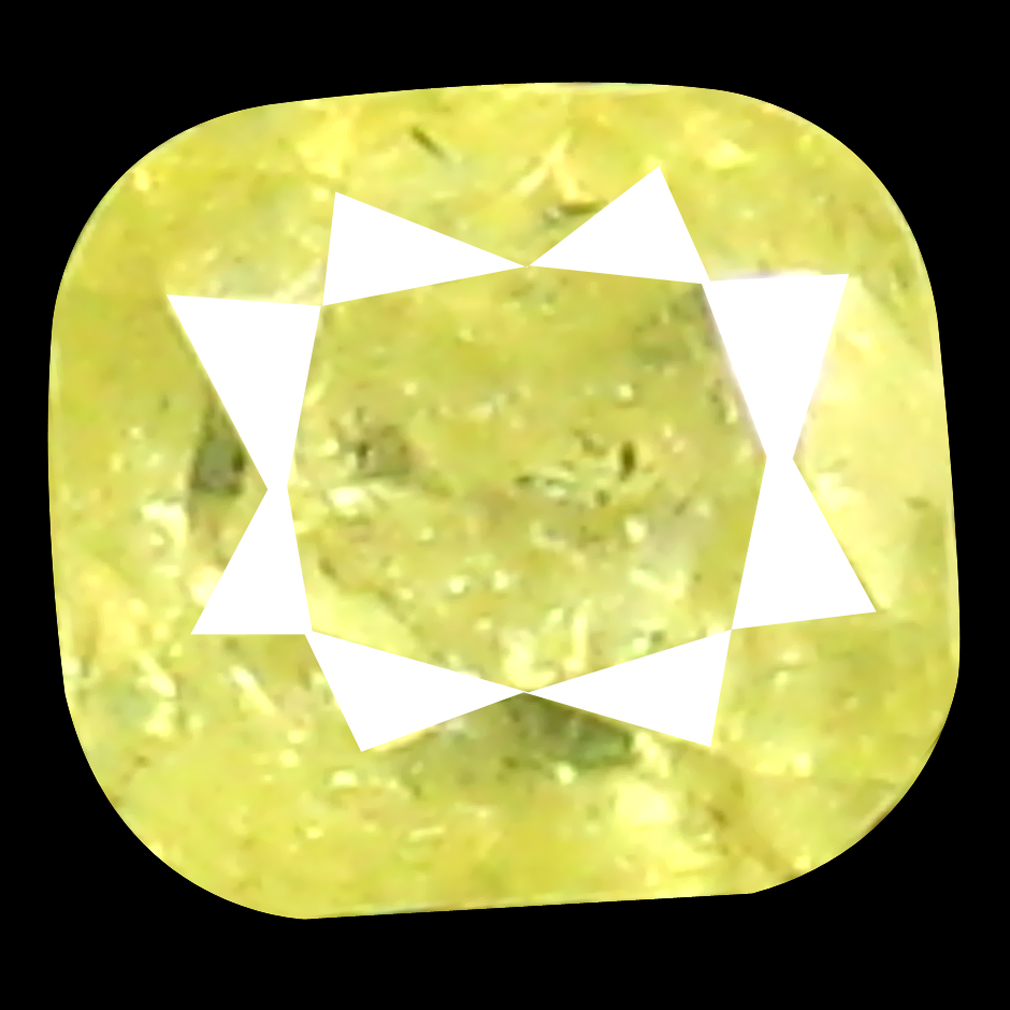 0.12 ct Beautiful Cushion Shape (3 x 2 mm) Fancy Yellow Diamond Genuine Stone