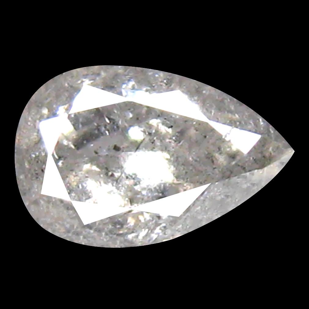 0.40 ct Incredible Pear Cut (5 x 4 mm) 100% Natural (Un-Heated) White Diamond Natural Gemstone