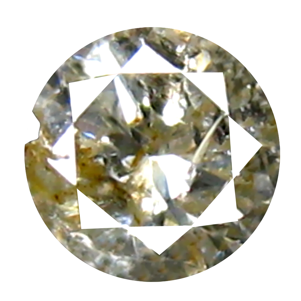 0.12 ct Stunning Round Cut (3 x 3 mm) 100% Natural (Un-Heated) Fancy Yellow Diamond Natural Gemstone