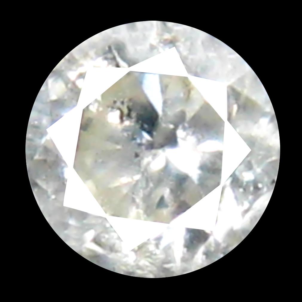 0.13 ct Fabulous Round Cut (3 x 3 mm) 100% Natural (Un-Heated) White Diamond Natural Gemstone