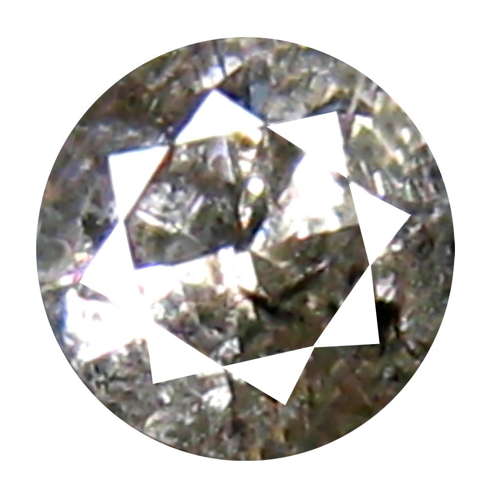 0.10 ct Superb Round Cut (3 x 3 mm) 100% Natural (Un-Heated) Fancy Brown Diamond Natural Gemstone
