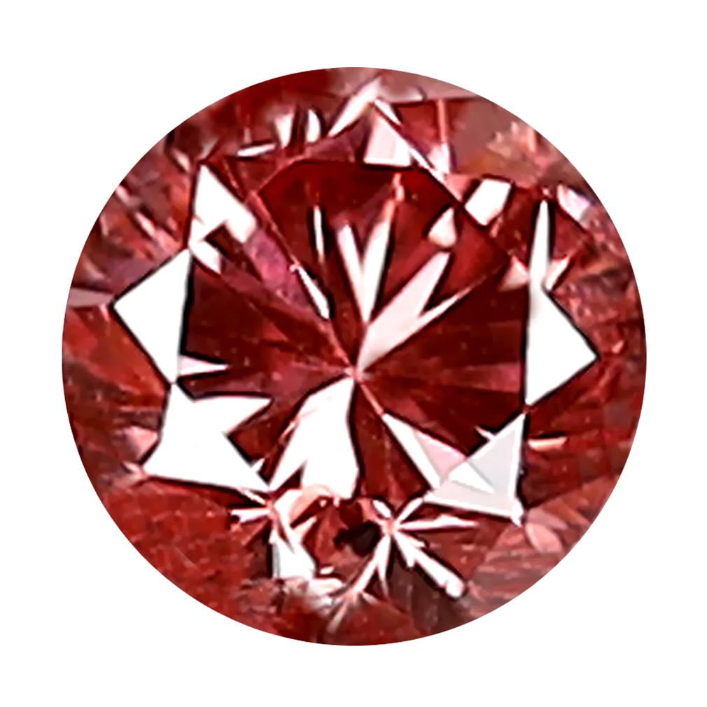0.21 ct SIGNIFICANT ROUND CUT (4 X 4 MM) SI CLARITY PURPLISH PINK DIAMOND LOOSE STONE