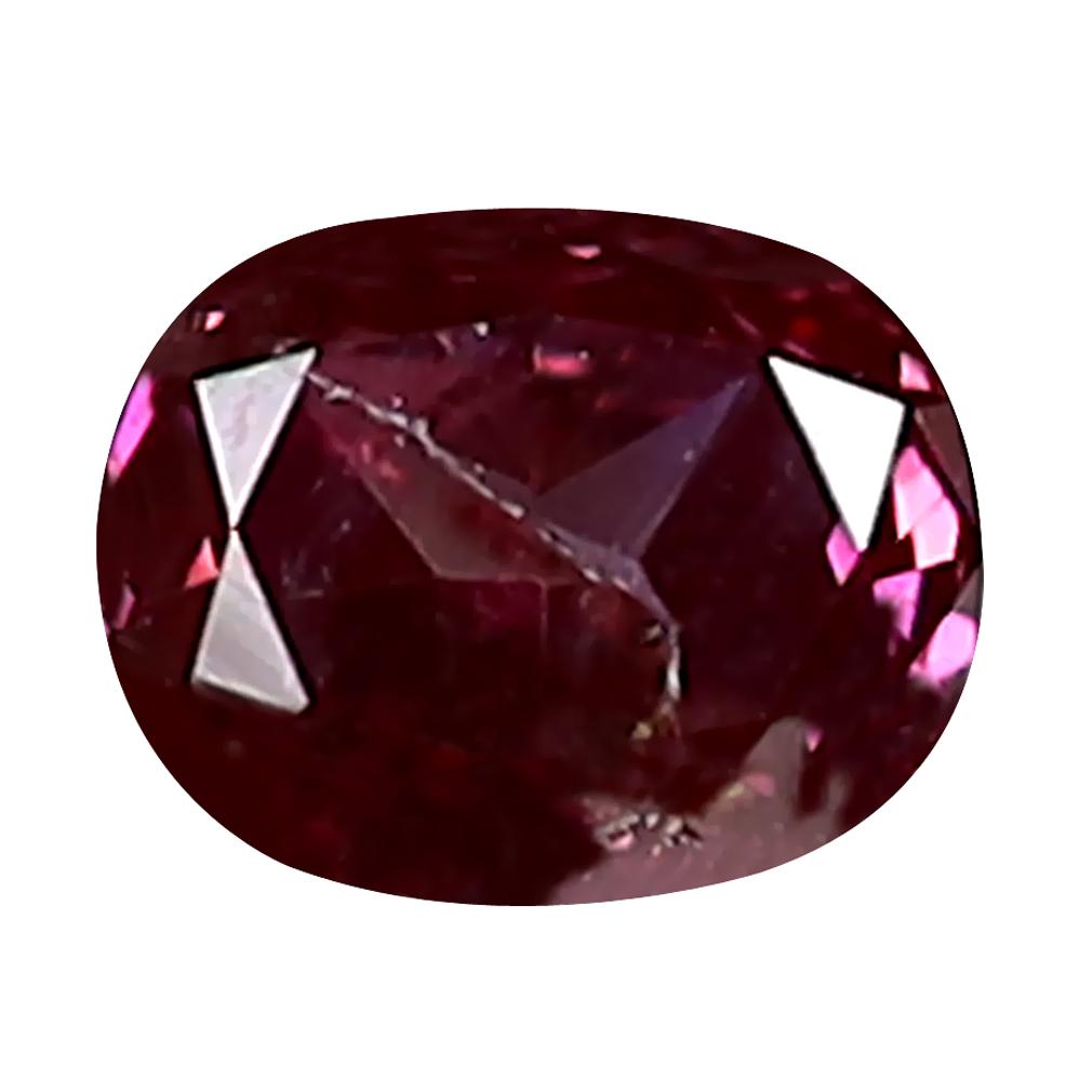 0.18 ct GRAND LOOKING OVAL CUT (4 X 3 MM) SI CLARITY PURPLISH PINK DIAMOND LOOSE STONE