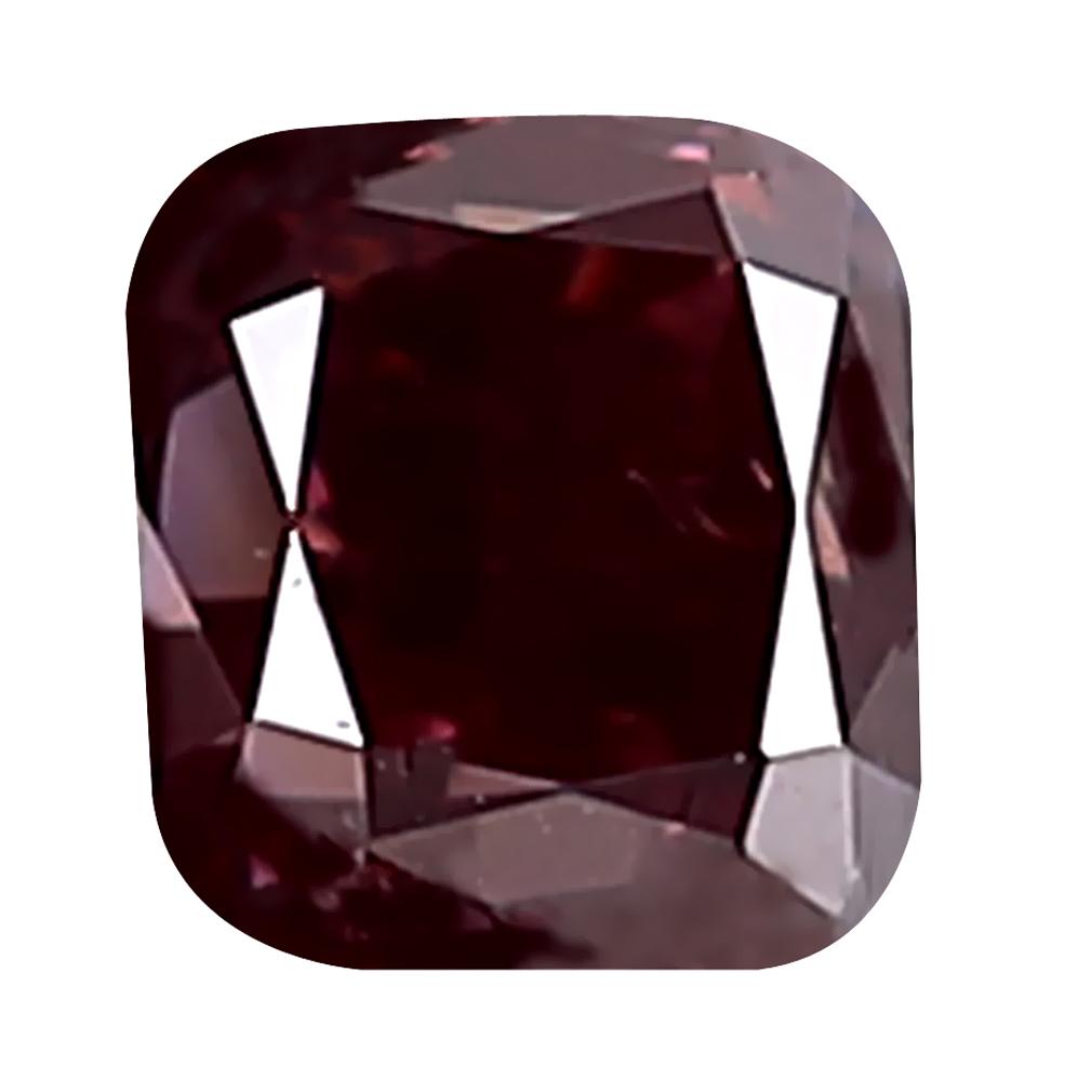 0.24 ct EXQUISITE CUSHION CUT (3 X 3 MM) SI CLARITY PURPLISH PINK DIAMOND LOOSE STONE