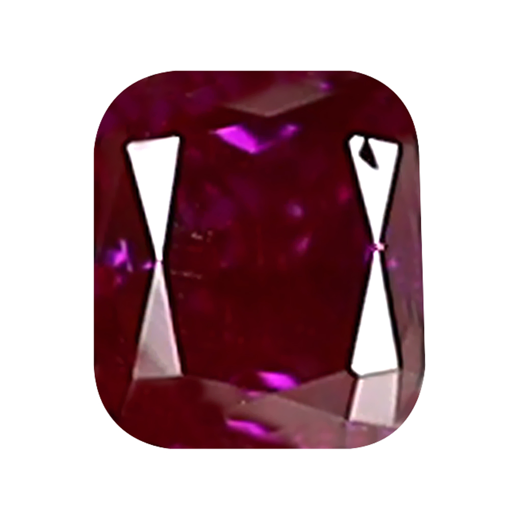 0.08 ct PRETTY CUSHION CUT (3 X 2 MM) SI CLARITY PURPLISH PINK DIAMOND LOOSE STONE