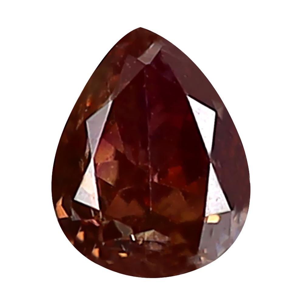 0.16 ct FIRST-CLASS PEAR CUT (4 X 3 MM) SI CLARITY PURPLISH PINK DIAMOND LOOSE STONE