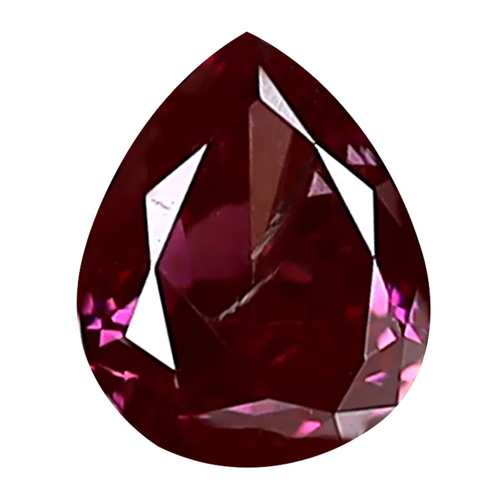 0.18 ct TOPNOTCH PEAR CUT (4 X 3 MM) SI CLARITY PURPLISH PINK DIAMOND LOOSE STONE