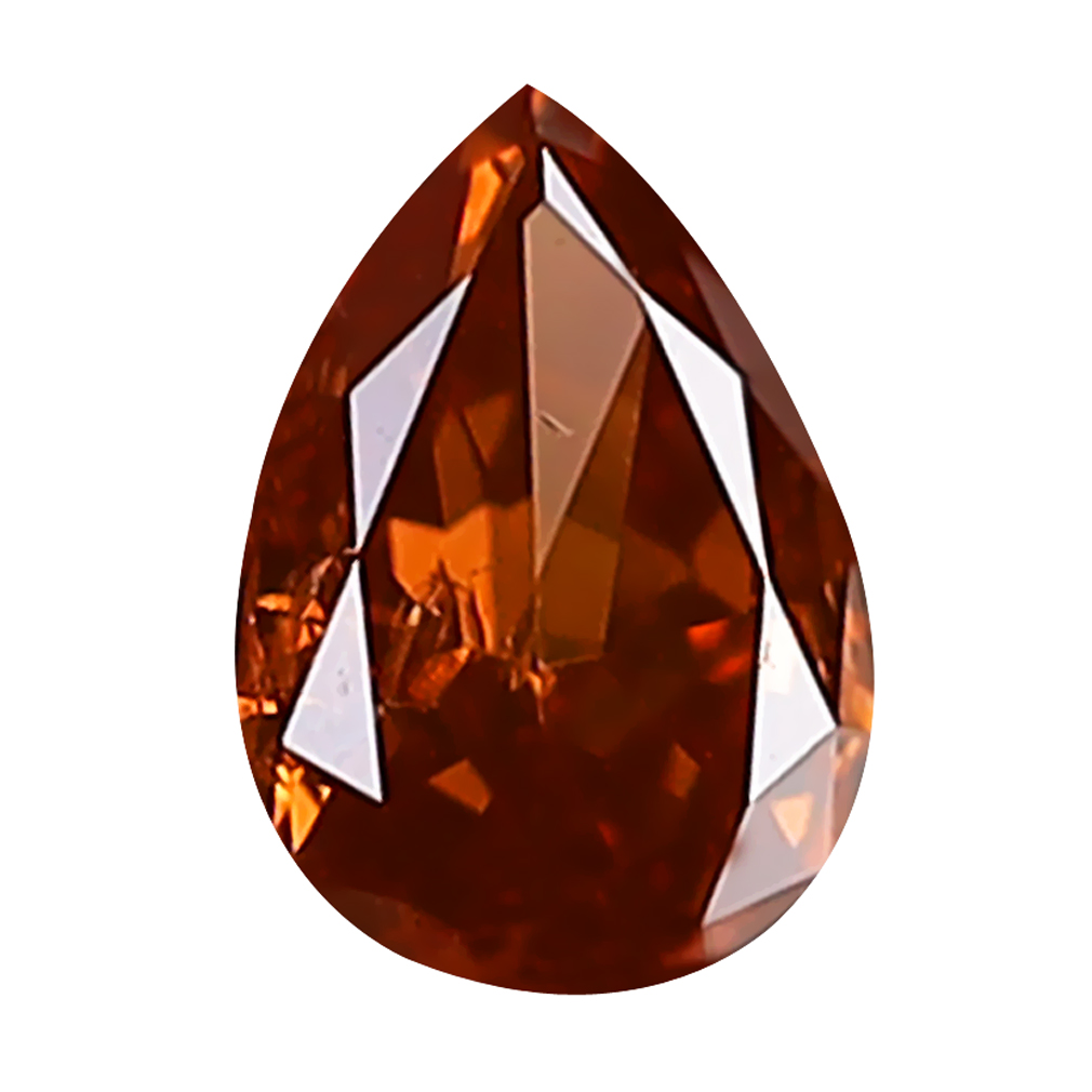0.15 ct SPECTACULAR PEAR CUT (4 X 3 MM) SI CLARITY BROWNISH PINK DIAMOND LOOSE STONE