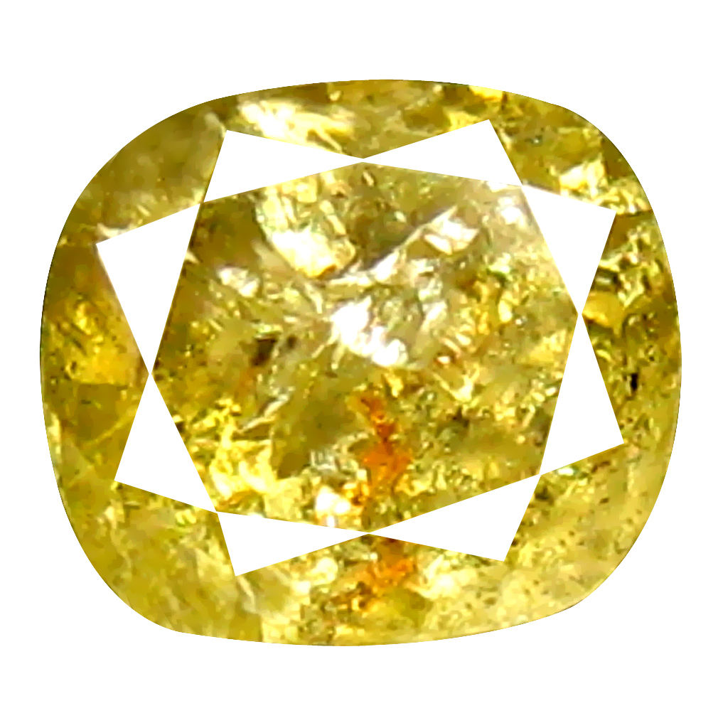 0.62 ct Dazzling Cushion Shape (5 x 4 mm) Fancy Yellowish Brown Diamond Genuine Stone