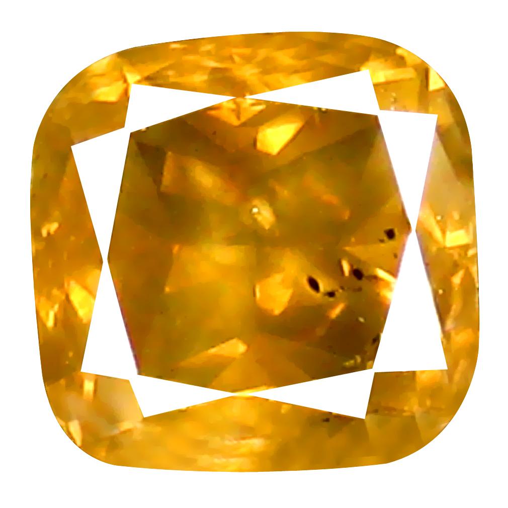 0.62 ct Marvelous Cushion Shape (5 x 5 mm) Fancy Yellowish Brown Diamond Genuine Stone