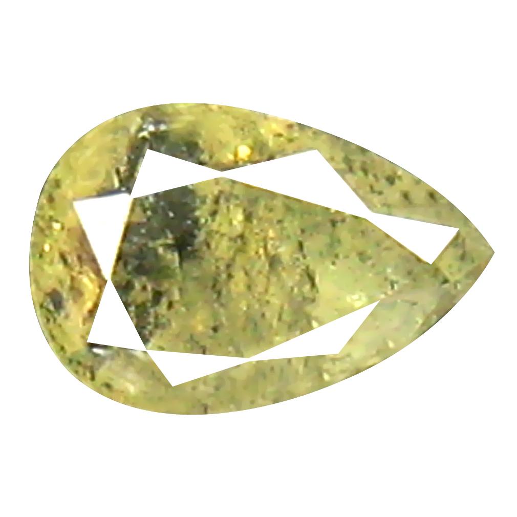 0.23 ct Magnificent Pear Shape (4 x 3 mm) Fancy Yellowish Brown Diamond Genuine Stone