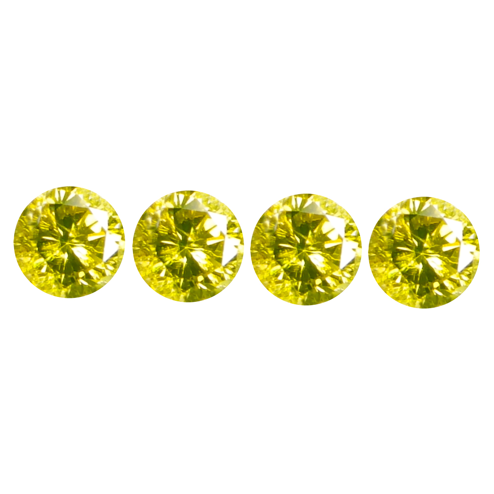 0.10 ct (4 PCS LOT) SPARKLING CALIBRATED SIZE(2 X 2 MM) ROUND SHAPE DIAMOND NATURAL GEMSTONE