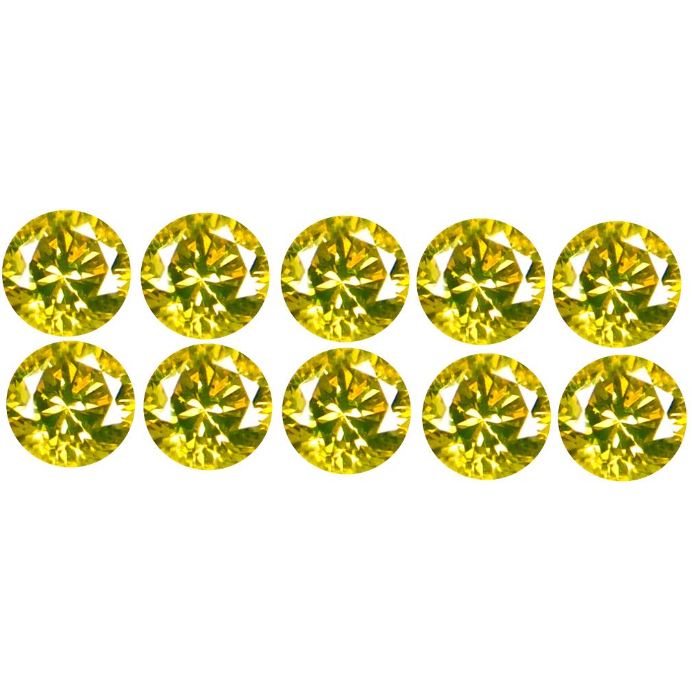 0.25 ct (10 PCS LOT) TOPNOTCH CALIBRATED SIZE(2 X 2 MM) ROUND SHAPE DIAMOND NATURAL GEMSTONE