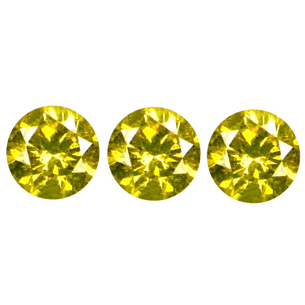 0.15 ct (3 PCS LOT) EXQUISITE CALIBRATED SIZE(2 X 2 MM) ROUND SHAPE DIAMOND NATURAL GEMSTONE