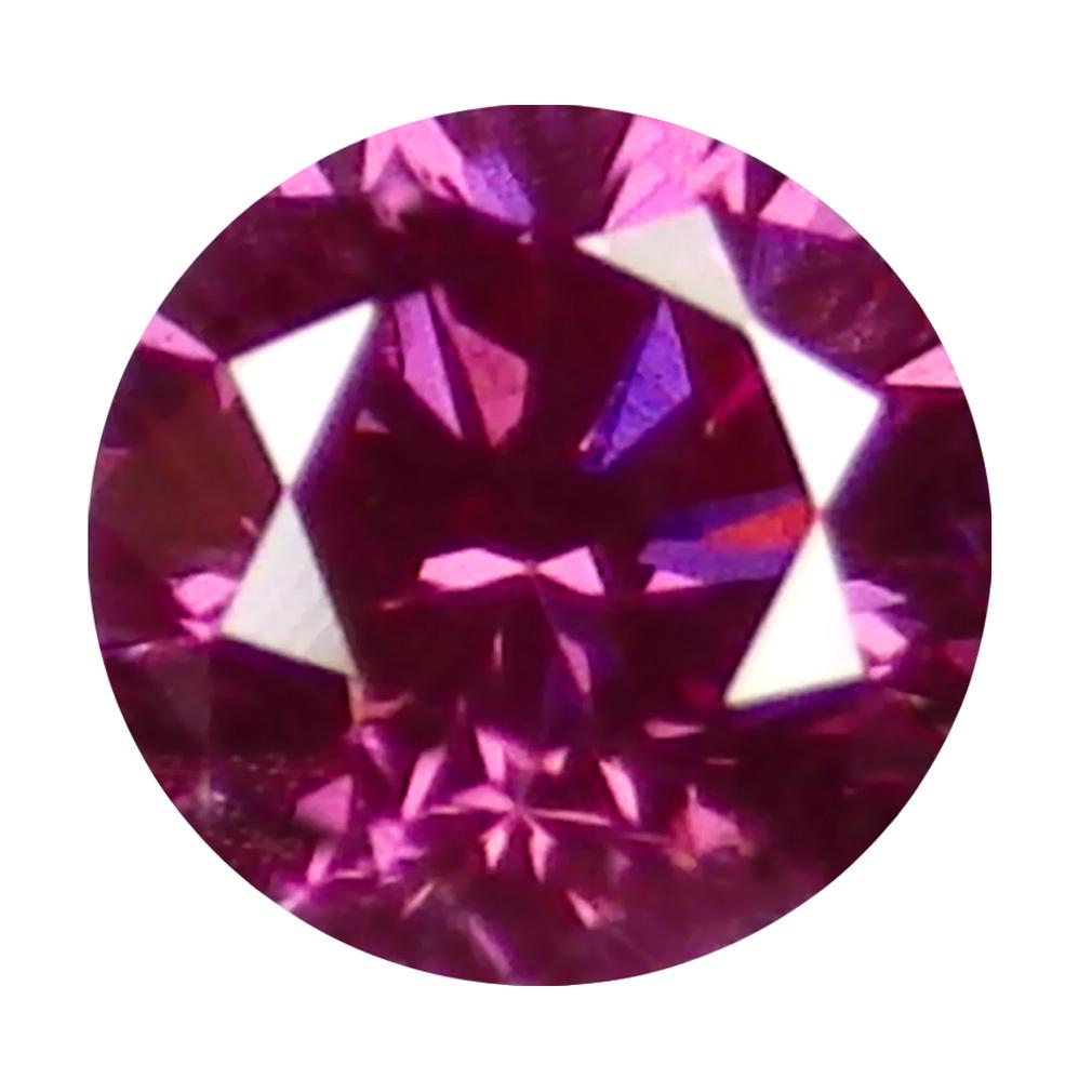 0.04 ct SPLENDID ROUND CUT (2 X 2 MM) SI CLARITY PURPLISH PINK DIAMOND LOOSE STONE