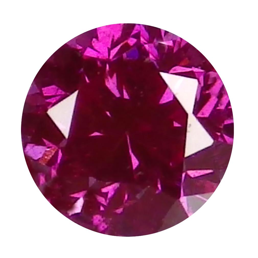 0.05 ct MIND-BOGGLING ROUND CUT (2 X 2 MM) SI CLARITY PURPLISH PINK DIAMOND LOOSE STONE