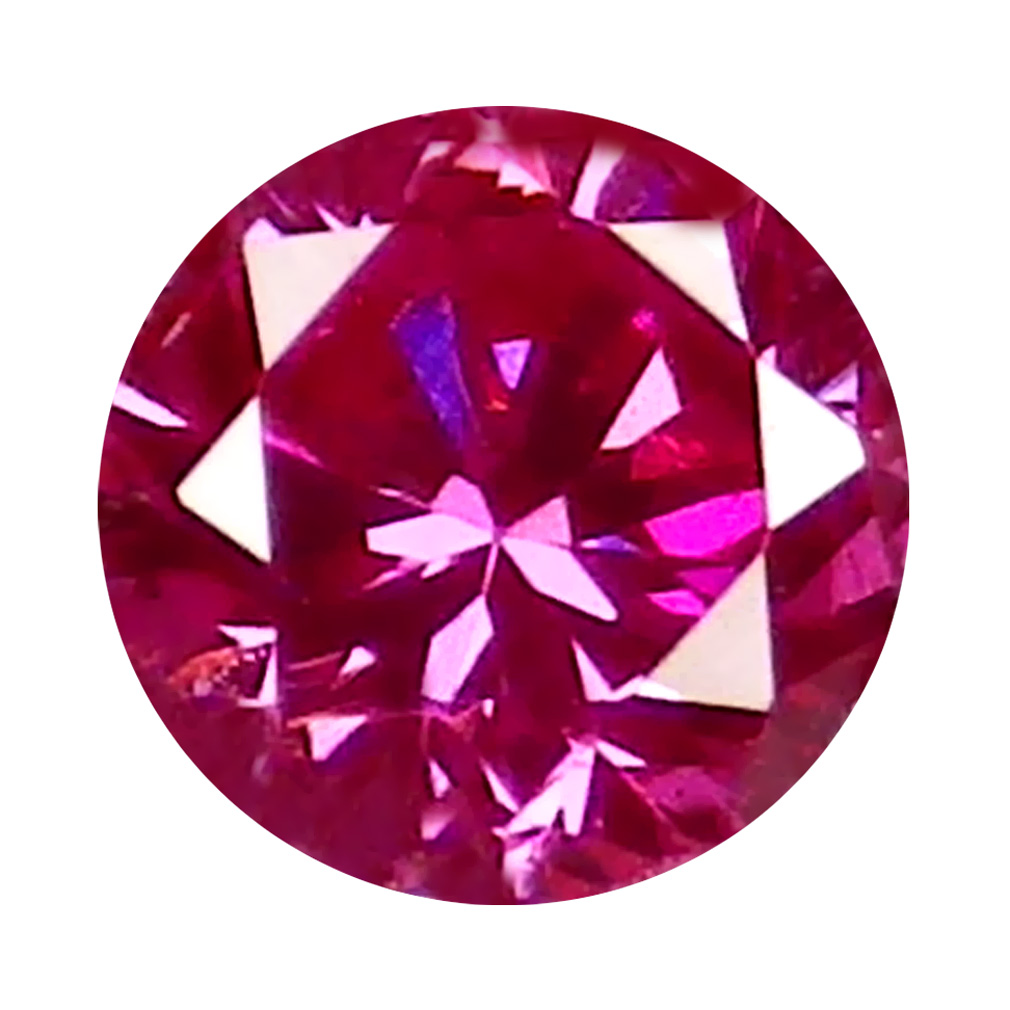 0.03 ct GREAT LOOKING ROUND CUT (2 X 2 MM) SI CLARITY PURPLISH PINK DIAMOND LOOSE STONE