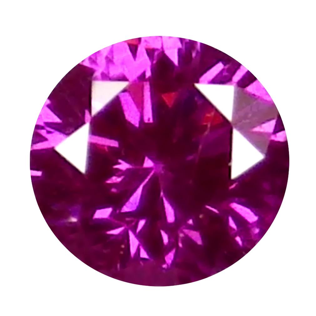 0.03 ct AWE-INSPIRING ROUND CUT (2 X 2 MM) SI CLARITY PURPLISH PINK DIAMOND LOOSE STONE