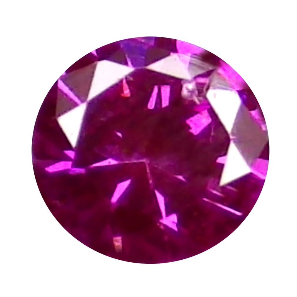 0.03 ct EYE-CATCHING ROUND CUT (2 X 2 MM) SI CLARITY PURPLISH PINK DIAMOND LOOSE STONE