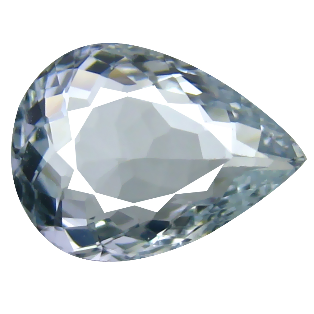 1.88 ct AAA+ Unbelievable Pear Shape (10 x 8 mm) Blue Aquamarine Natural Gemstone
