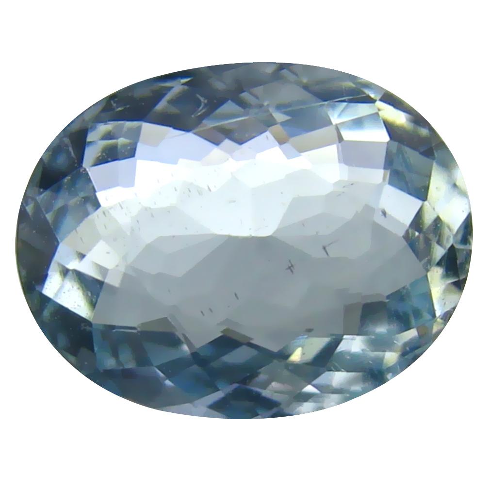 1.88 ct AAA+ Astonishing Oval Shape (10 x 8 mm) Blue Aquamarine Natural Gemstone
