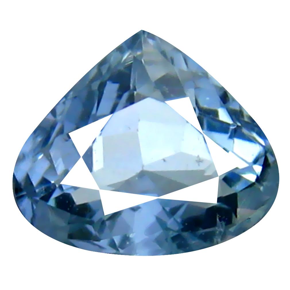 0.67 ct AAA+ Valuable Pear Shape (6 x 6 mm) Blue Aquamarine Natural Gemstone