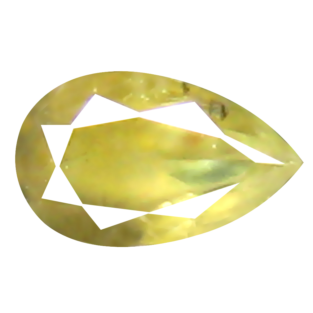0.08 ct Gorgeous Pear Shape (3 x 2 mm) Fancy Yellowish Brown Diamond Genuine Stone