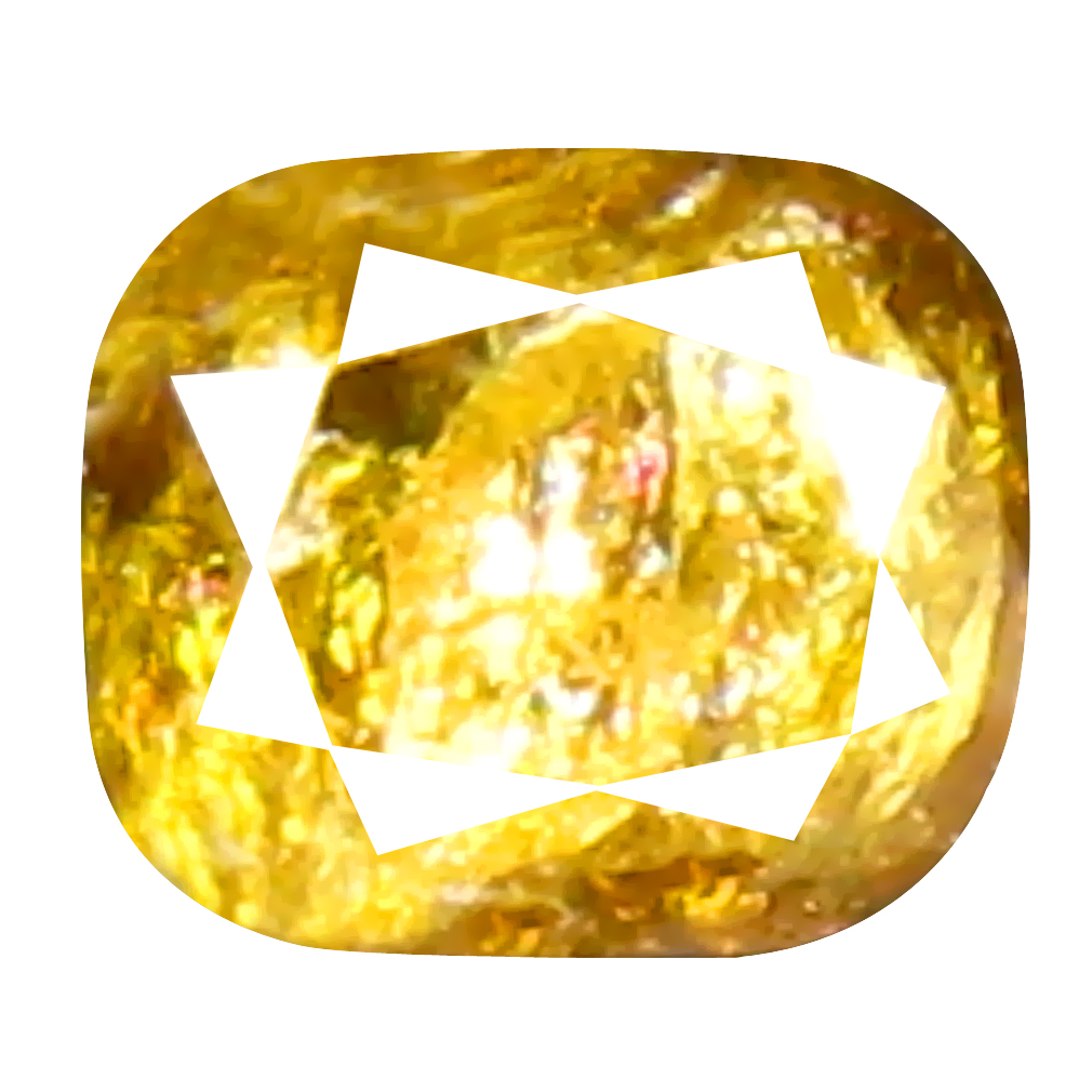 0.11 ct Pleasant Cushion Cut (3 x 2 mm) 100% Natural (Un-Heated) Orange Yellow Diamond Natural Gemstone