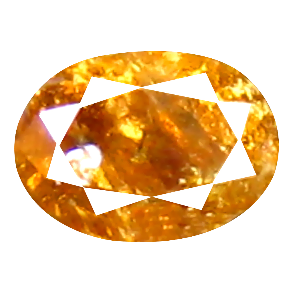 0.08 ct Gorgeous Oval Cut (3 x 2 mm) 100% Natural (Un-Heated) Orange Yellow Diamond Natural Gemstone