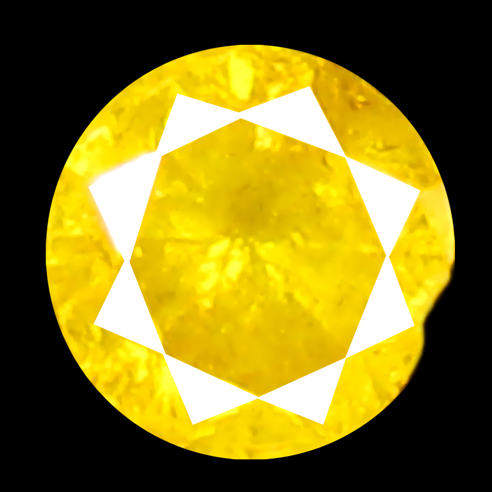 0.09 ct Stunning Round Cut (3 x 3 mm) 100% Natural (Un-Heated) Fancy Yellow Diamond Natural Gemstone