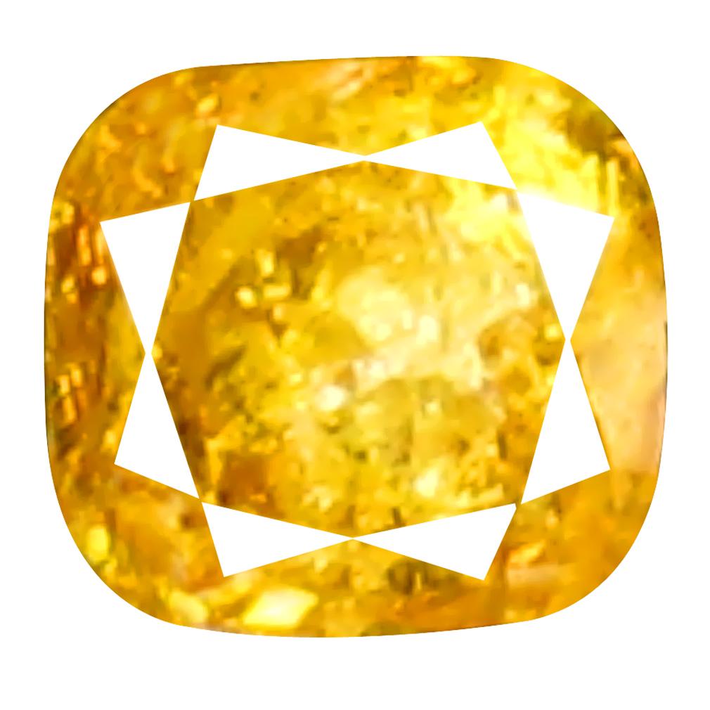 0.07 ct Exquisite Cushion Cut (2 x 2 mm) 100% Natural (Un-Heated) Fancy Yellow Diamond Natural Gemstone