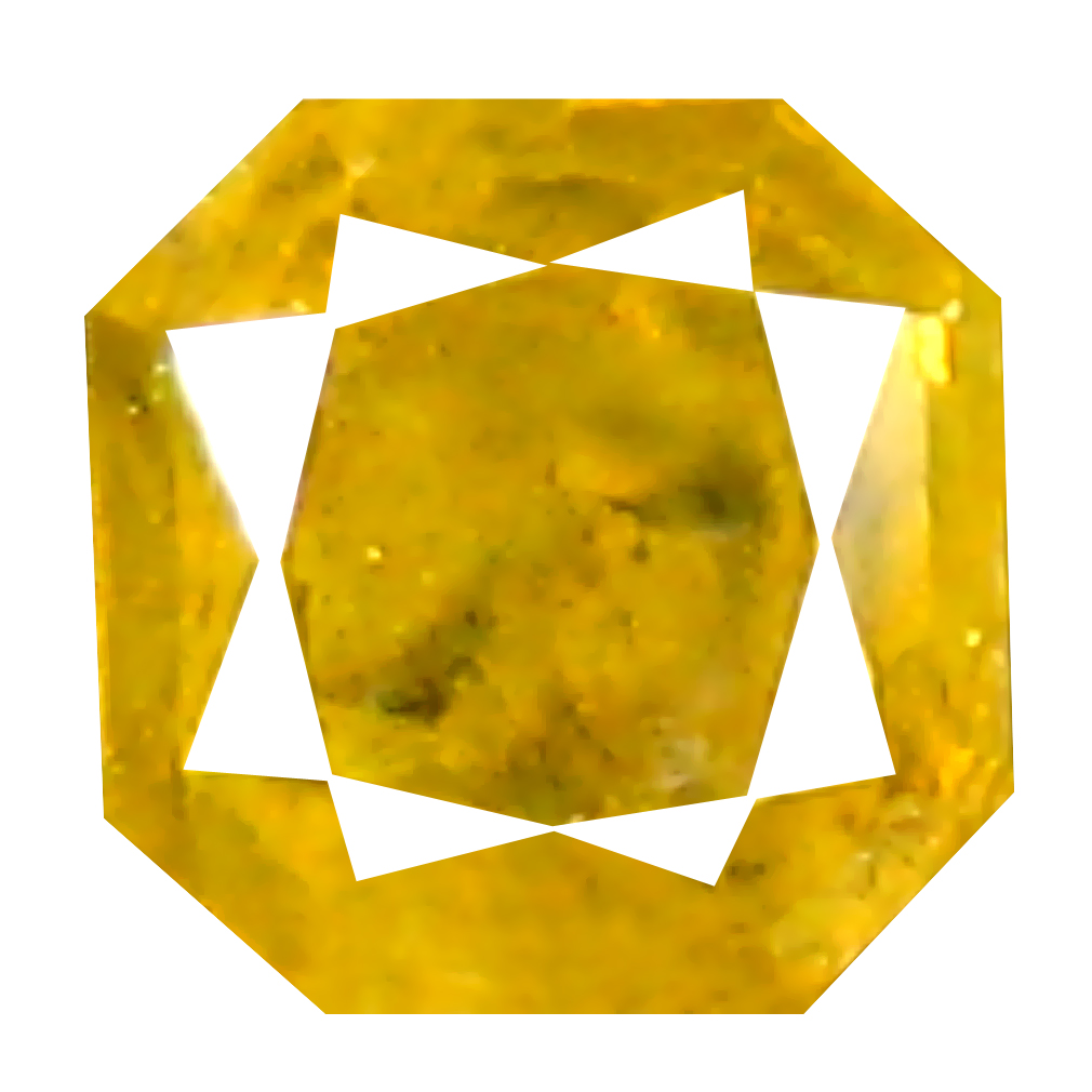 0.11 ct Outstanding Octagon Cut (2 x 2 mm) 100% Natural (Un-Heated) Fancy Yellow Diamond Natural Gemstone