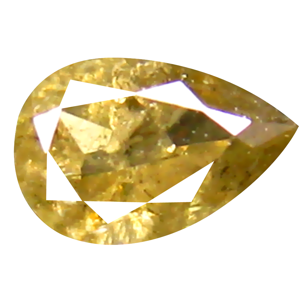 0.17 ct Pretty Pear Cut (4 x 3 mm) 100% Natural (Un-Heated) Fancy Yellow Diamond Natural Gemstone