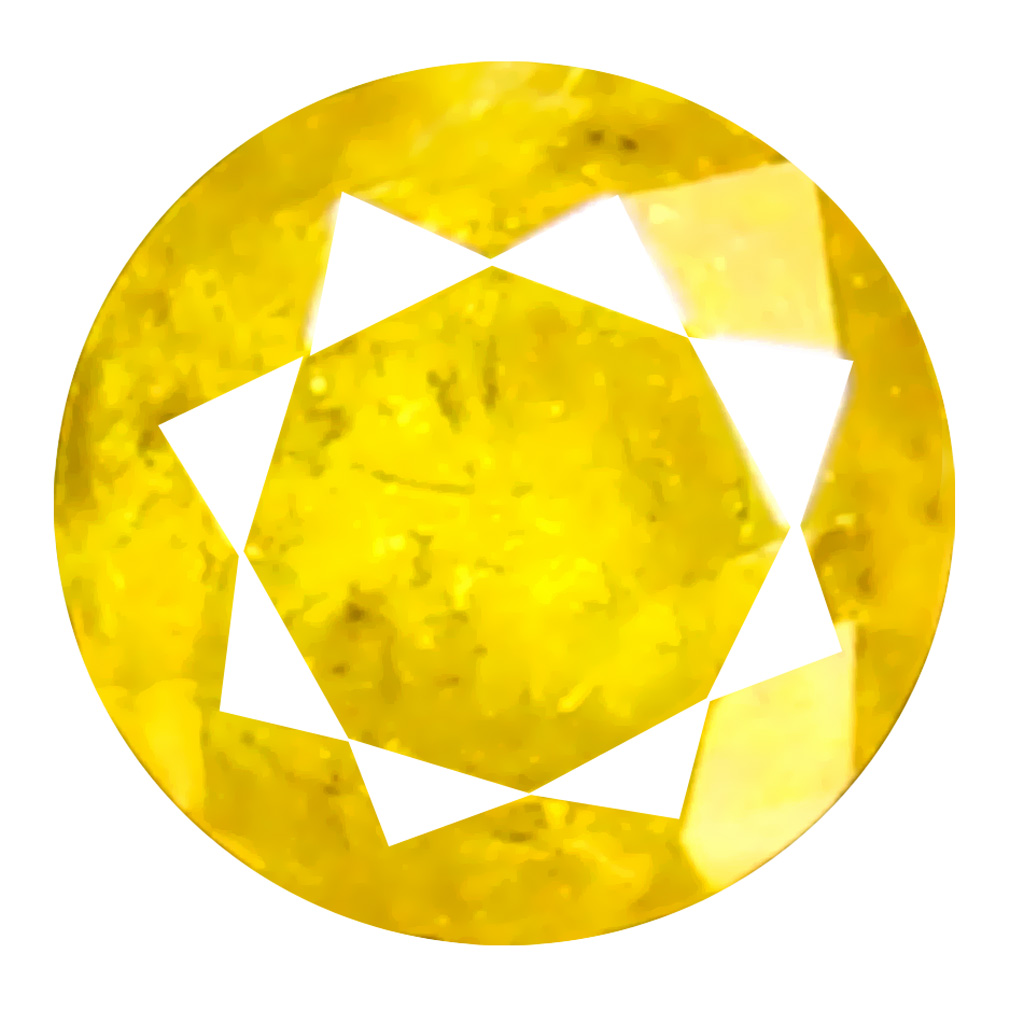 0.10 ct Great looking Round Cut (3 x 3 mm) 100% Natural (Un-Heated) Fancy Yellow Diamond Natural Gemstone