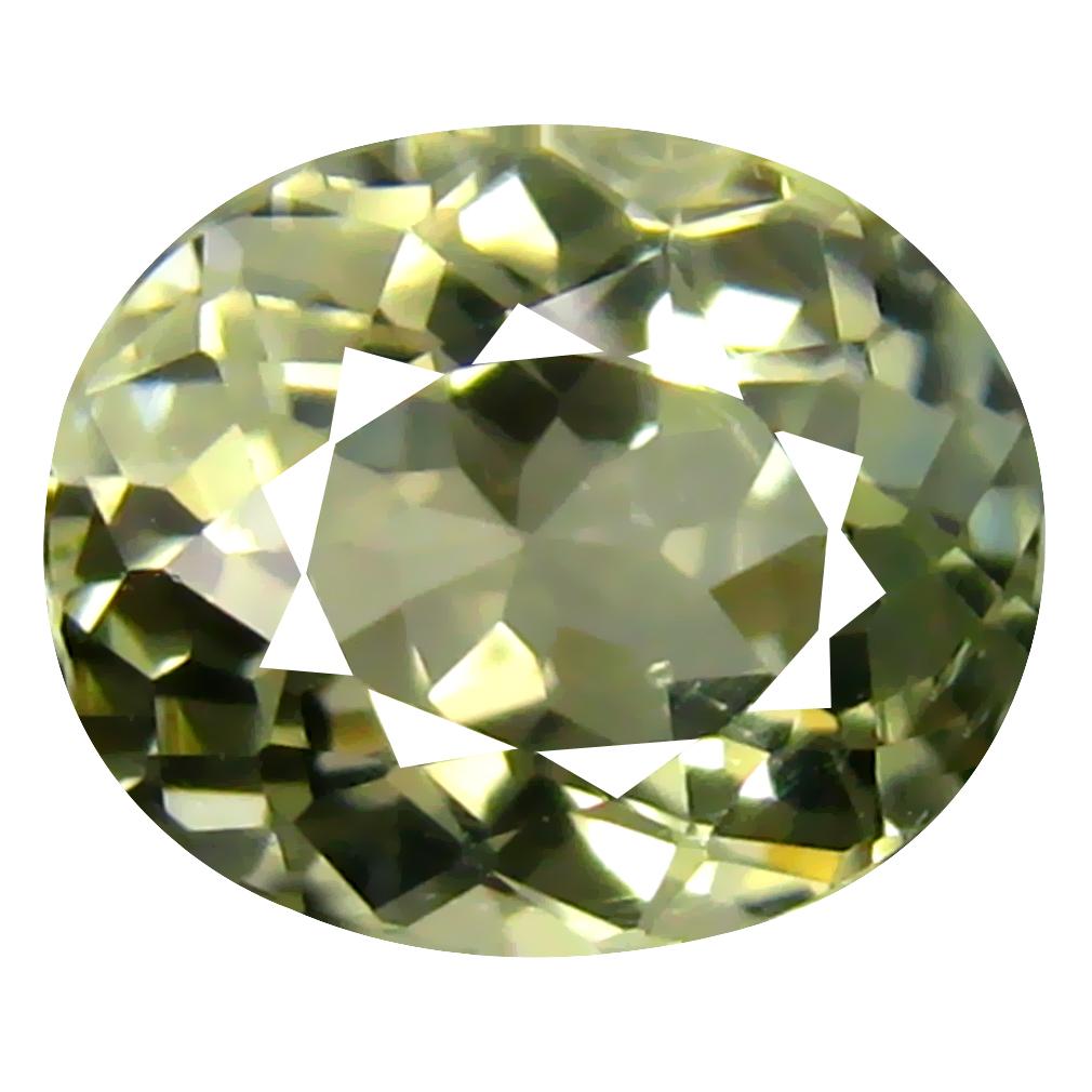 1.72 ct AAA Very good Oval Shape (8 x 7 mm) Green Tourmaline Natural Gemstone