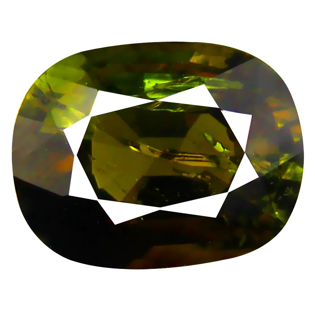 2.55 ct AAA Impressive Cushion Shape (9 x 7 mm) Green Tourmaline Natural Gemstone