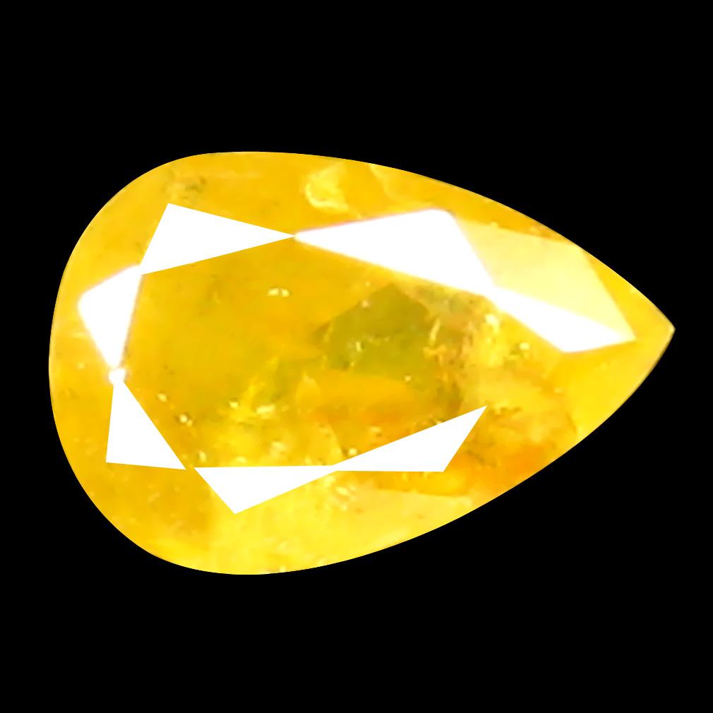 0.11 ct Mesmerizing Pear Cut (4 x 3 mm) 100% Natural (Un-Heated) Orange Yellow Diamond Natural Gemstone