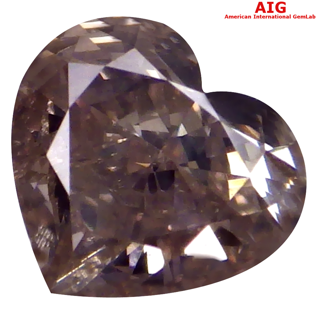 0.50 ct AIG CERTIFIED INCOMPARABLE SI1 CLARITY HEART CUT (5 X 5 MM) FANCY PINK DIAMOND STONE