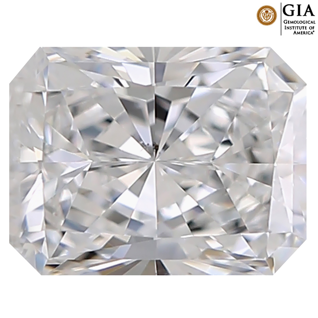 0.50 ct GIA CERTIFIED ROMANTIC RECTANGULAR CUT (5 X 4 MM) VS2 CLARITY D (COLORLESS) WHITE DIAMOND