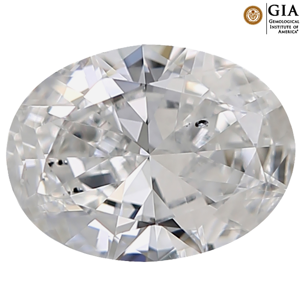 0.50 ct GIA CERTIFIED FAIR OVAL CUT (6 X 5 MM) SI2 CLARITY D (COLORLESS) WHITE DIAMOND