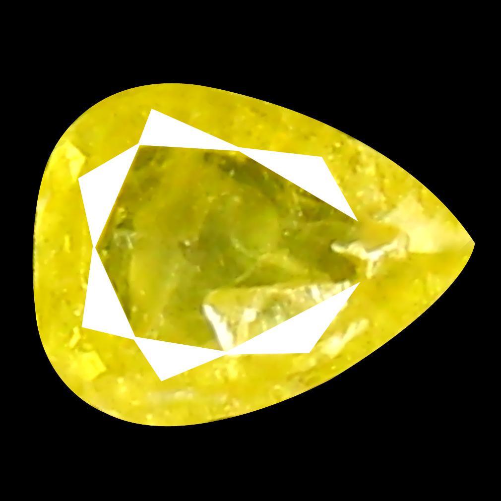 0.08 ct Impressive Pear Cut (3 x 3 mm) 100% Natural (Un-Heated) Fancy Yellow Diamond Natural Gemstone