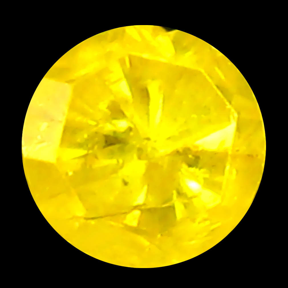 0.11 ct Sparkling Round Cut (3 x 3 mm) 100% Natural (Un-Heated) Fancy Yellow Diamond Natural Gemstone