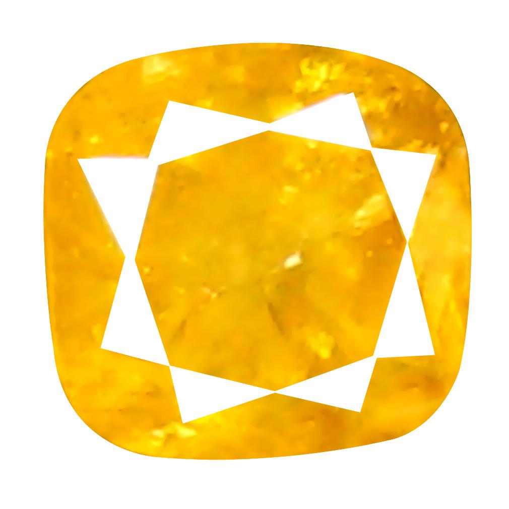 0.08 ct Impressive Cushion Cut (2 x 2 mm) 100% Natural (Un-Heated) Fancy Yellow Diamond Natural Gemstone