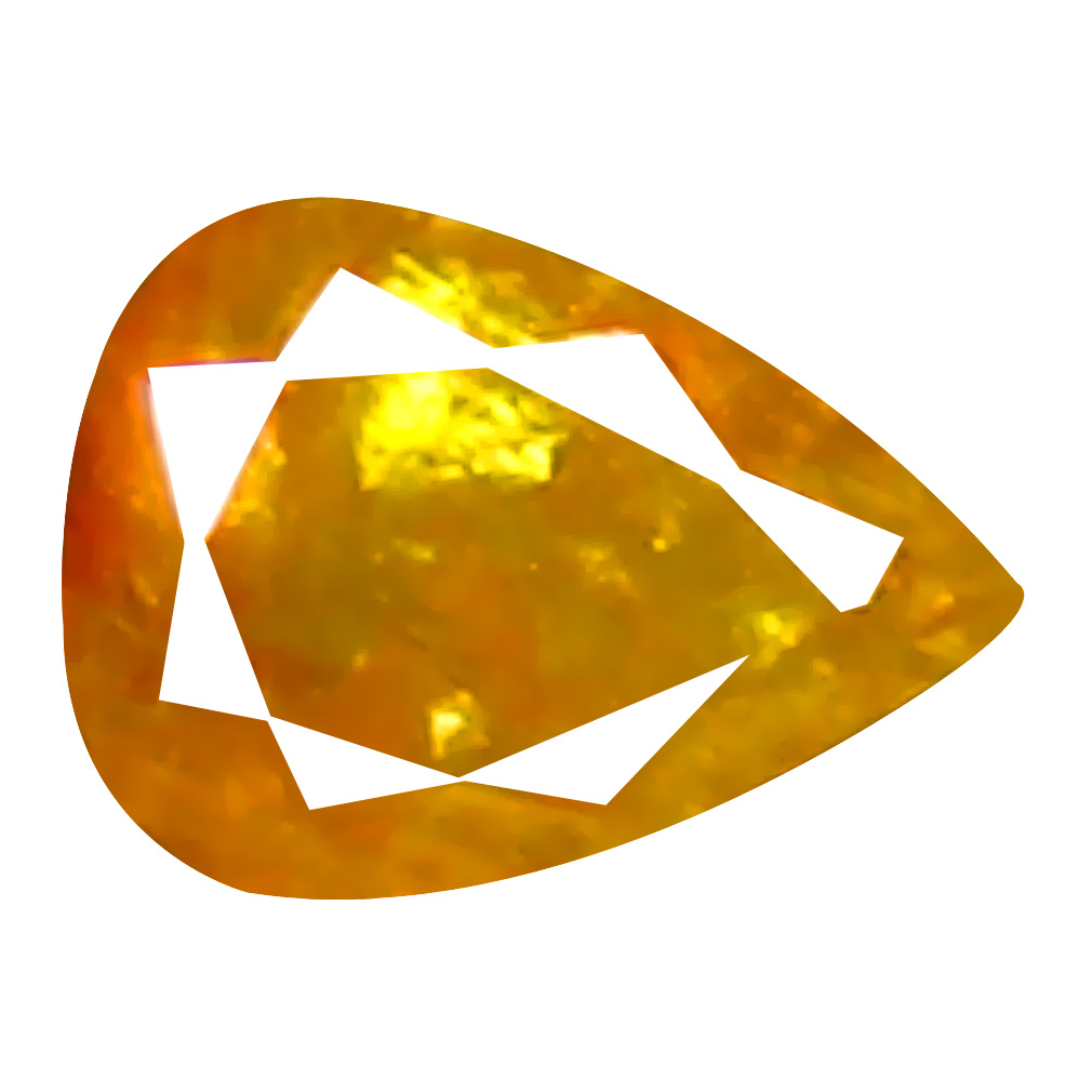 0.07 ct Amazing Pear Cut (3 x 2 mm) 100% Natural (Un-Heated) Orange Yellow Diamond Natural Gemstone