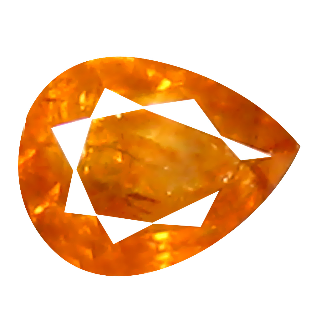 0.11 ct Superb Pear Cut (3 x 3 mm) 100% Natural (Un-Heated) Orange Yellow Diamond Natural Gemstone