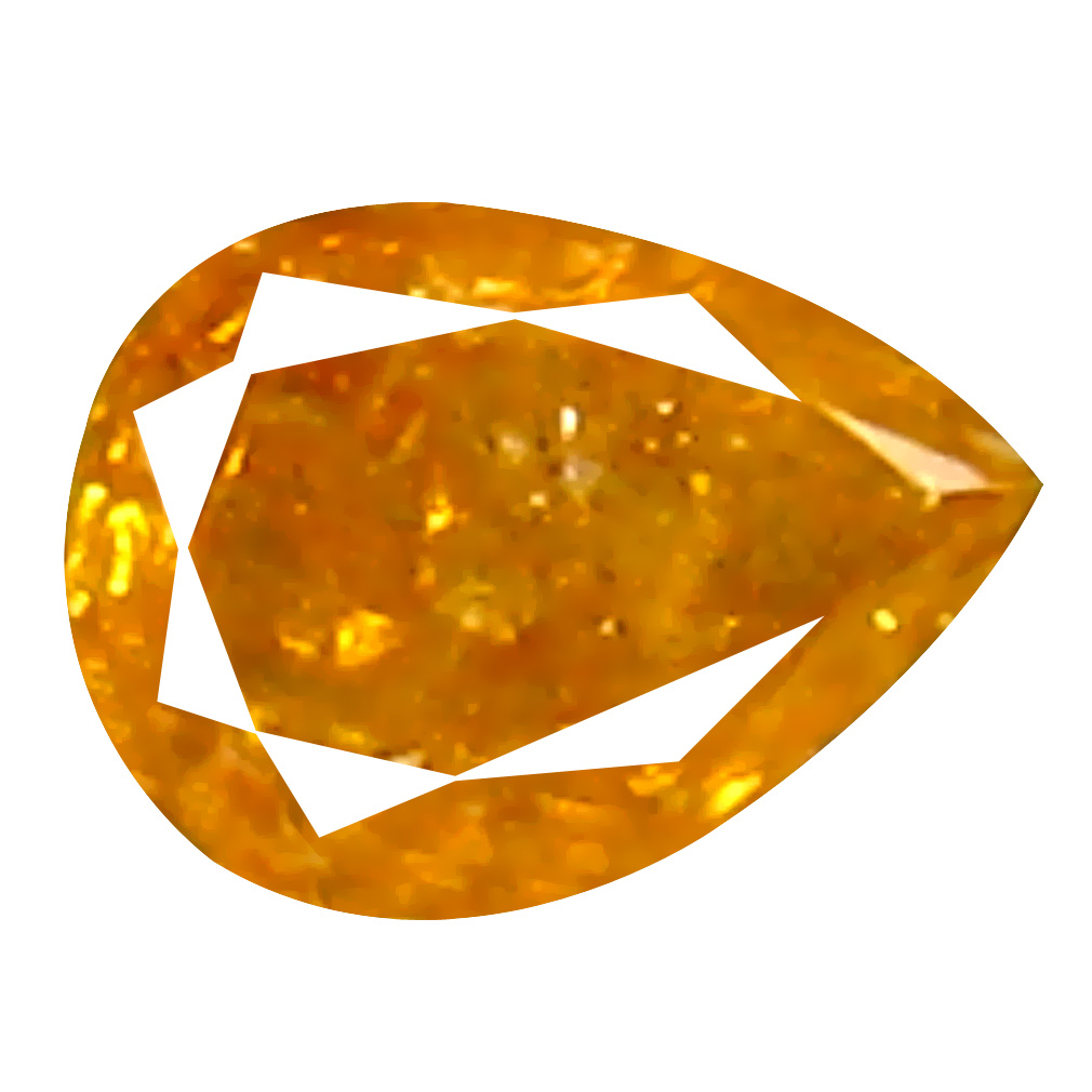 0.08 ct Supreme Pear Cut (3 x 2 mm) 100% Natural (Un-Heated) Orange Yellow Diamond Natural Gemstone