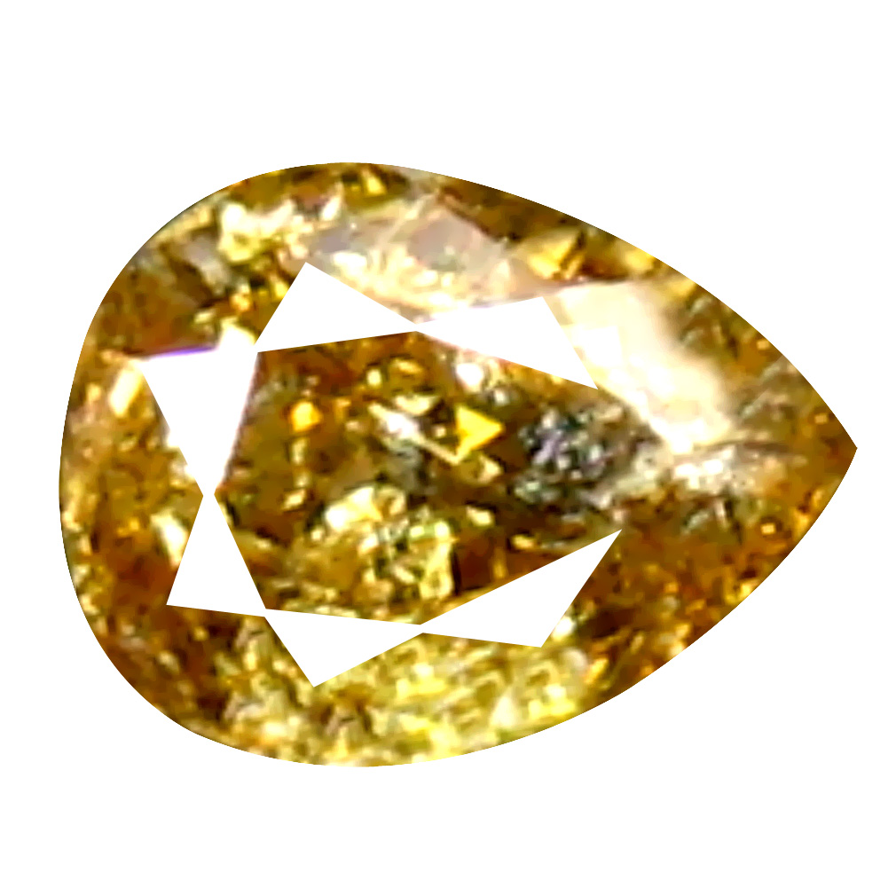 0.09 ct Eye-catching Pear Cut (3 x 2 mm) 100% Natural (Un-Heated) Orange Yellow Diamond Natural Gemstone