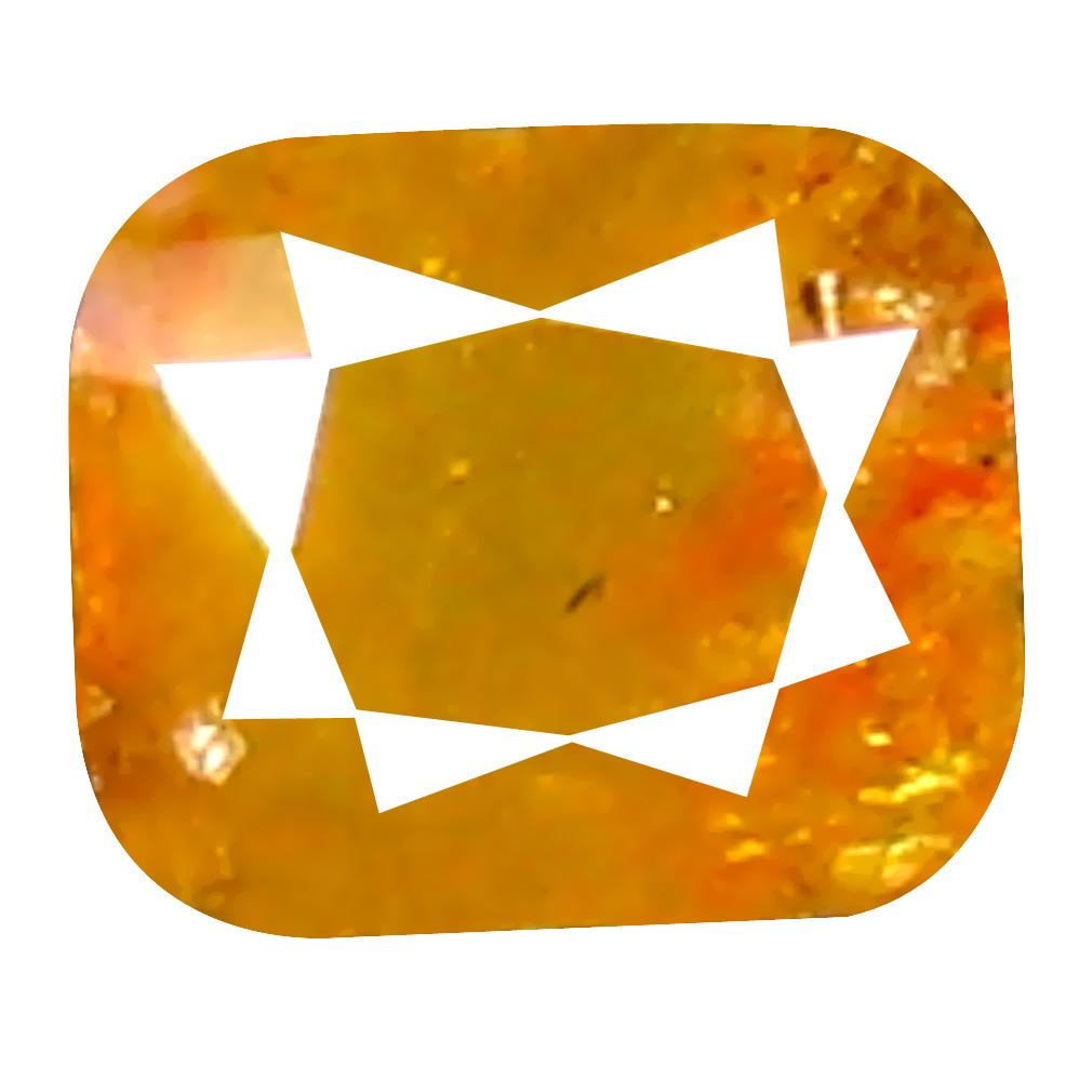 0.18 ct Spectacular Cushion Cut (3 x 3 mm) 100% Natural (Un-Heated) Orange Yellow Diamond Natural Gemstone